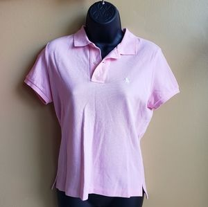-Ralph Lauren- The Skinny Polo Pink Top